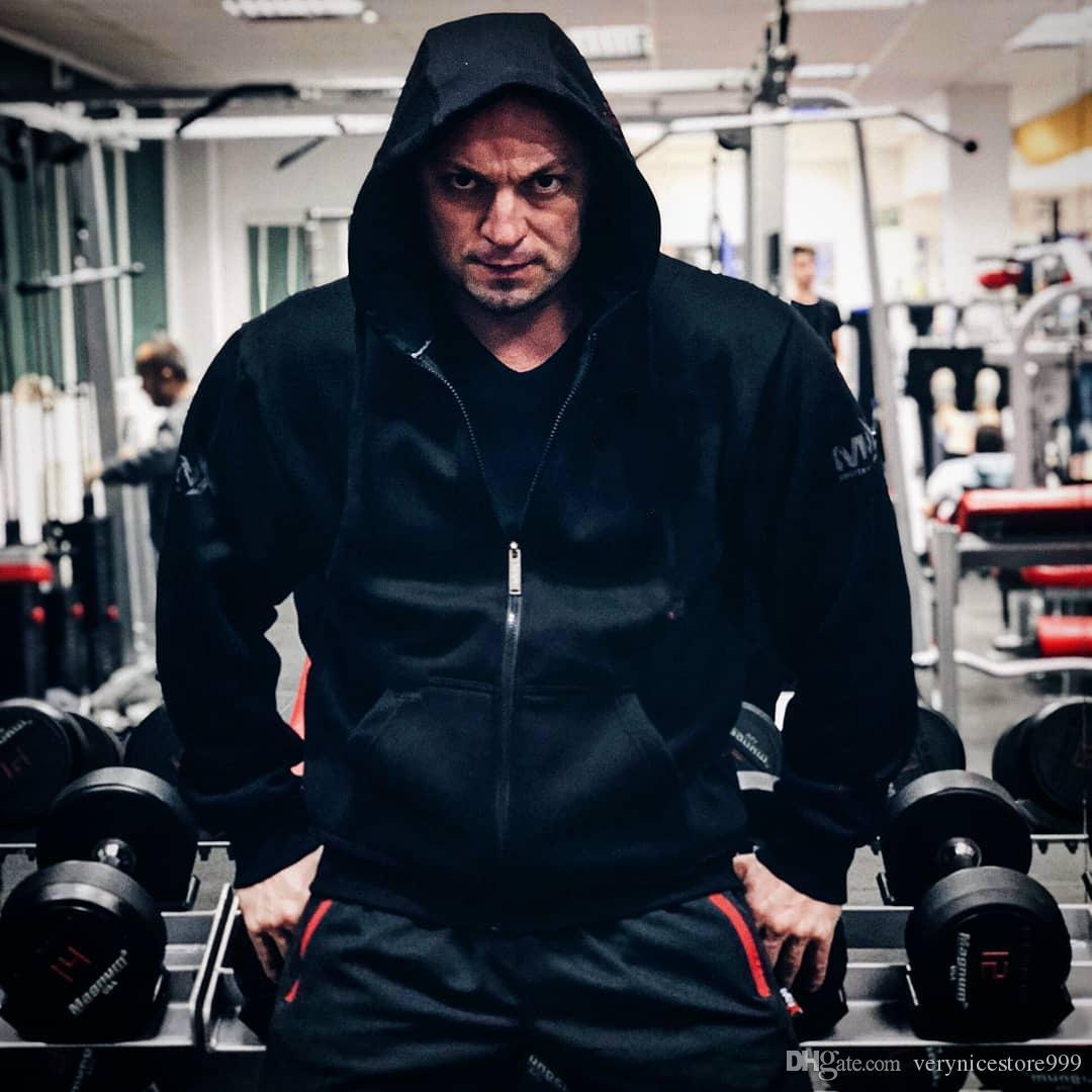 МОДА СТИЛЬ железа кровь зверь душа Телохранитель мужская мышцы тренировочный костюм утолщенные свободные издание теплый спортивный топ пальто