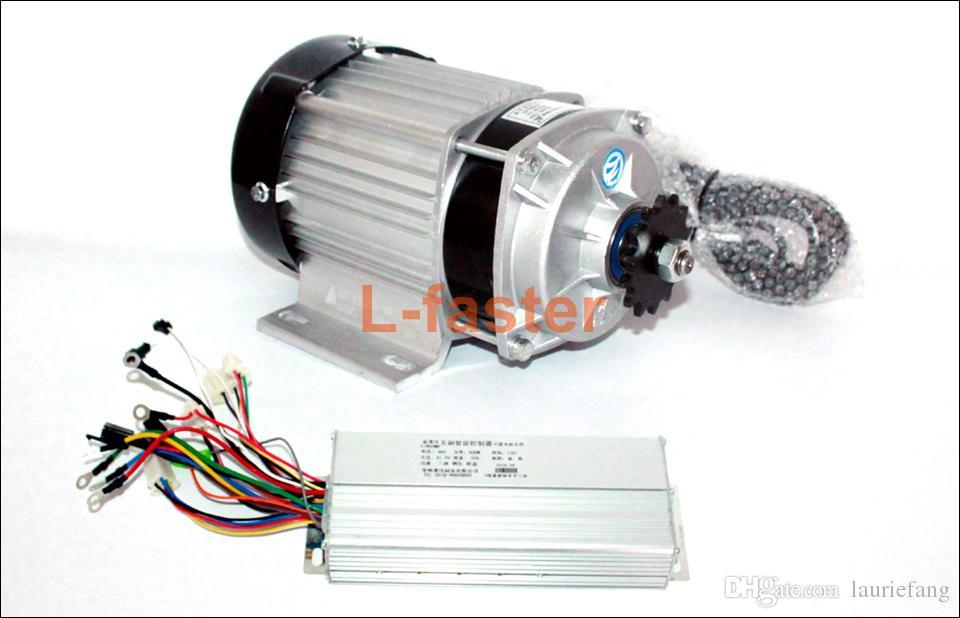 48V 500W 750W motore elettrico a triciclo elettrico per motori ad ingranaggi senza spazzole con ventola di raffreddamento a motore elettrico con comando a catena