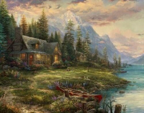 Padres Thomas Kinkade A Perfect Day Home Decor Artesanato / Oil HD Imprimir pintura em tela Wall Art Canvas Pictures 200121