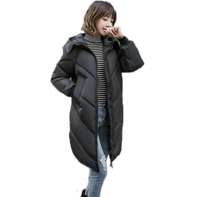 모피 칼라 따뜻한 새로운 디자인 후드 여성의 새로운 여성 겨울 코트 롱 파카 여성 착실히 보내다 코트 겨울 자켓
