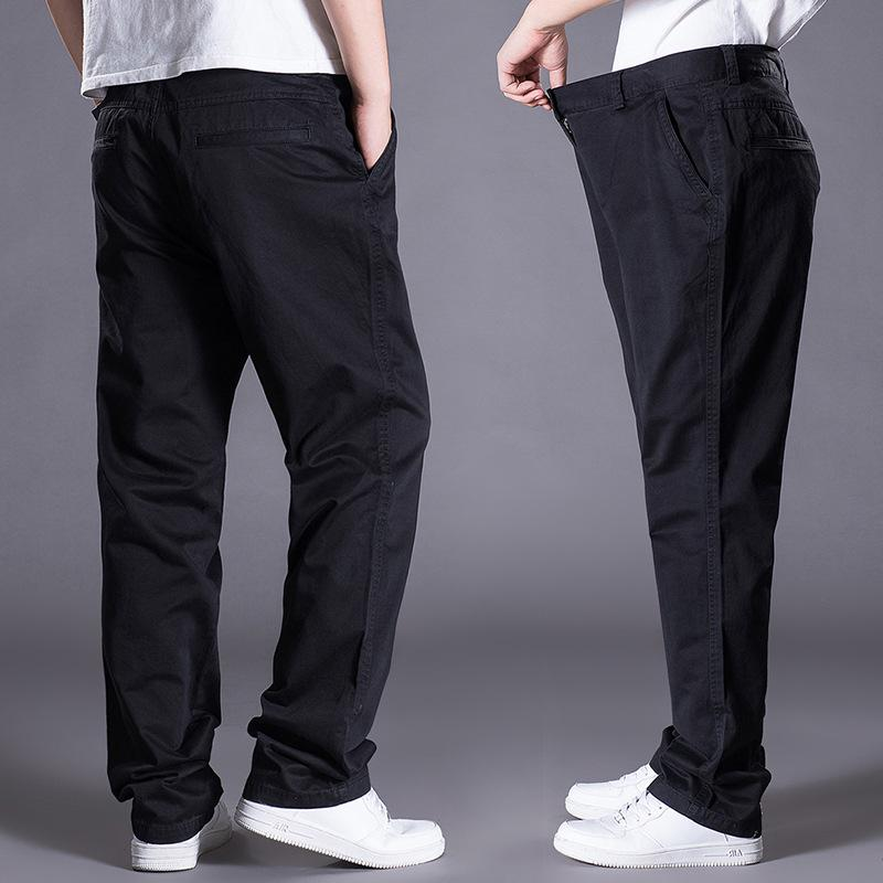 New Plus-sized Men'S Wear Casual Pants Loose-Fit Sports Straight-leg Pants Middle-aged Men Autumn Clothing Trousers