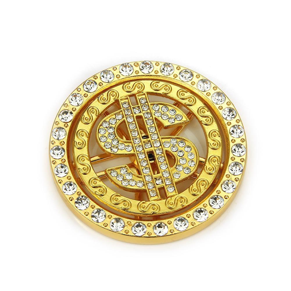 Hip Hop diamante giratorio de dólar a mano colgante caja del teléfono DIY joyas