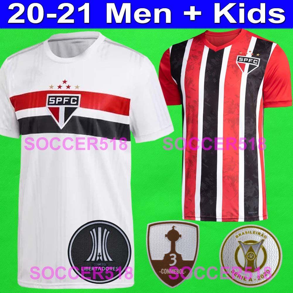 2020 2021 Sao Paulo FC Daniel Alves pullover bianchi di calcio PABLO Camisas de Futebol bambini Helinho camiseta de futbol Conmebol Libertadores camicie