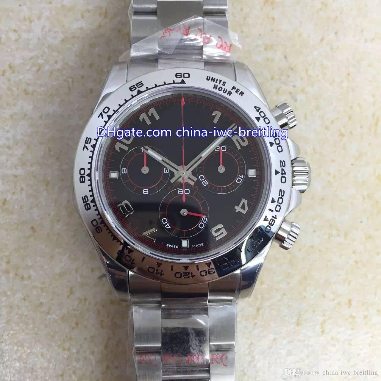 5 Style 40 millimetri migliore qualità Cosmograph 116520 116509 Cronografo Osservare negli orologi in acciaio inossidabile svizzero ETA 7750 movimento automatico Mens