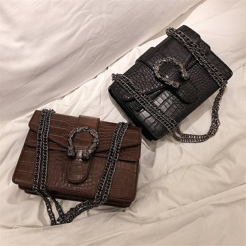Handtaschen Frauen Mode Chians Geldbeutel und Handtaschen Alligator-Schulter Crossbody Beutel für Frauen Sac A Haupt