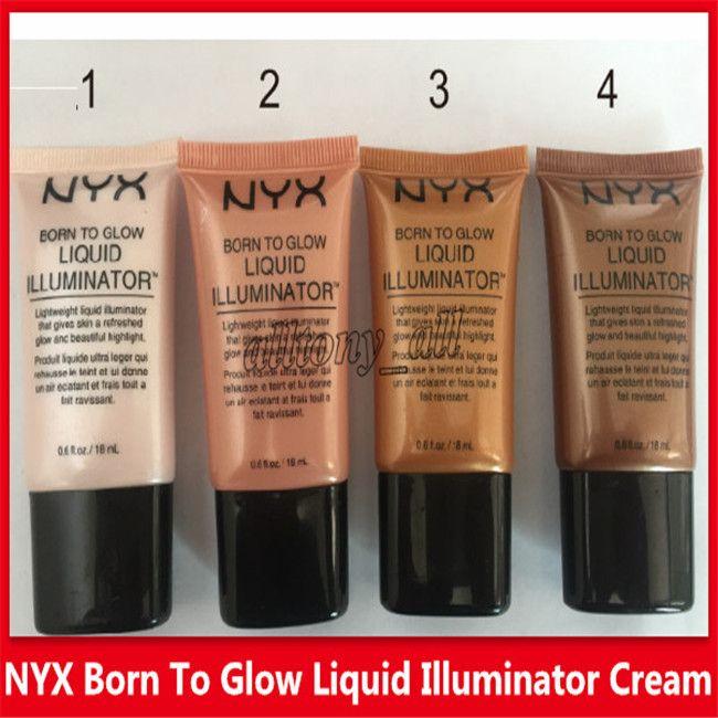 Gros NYX Liquide Fond De Teint Correcteur Visage Né Pour Briller Liquide Illuminateur BB Crème Maquillage Poudre Cosmétiques Soins De La Peau 18 ml