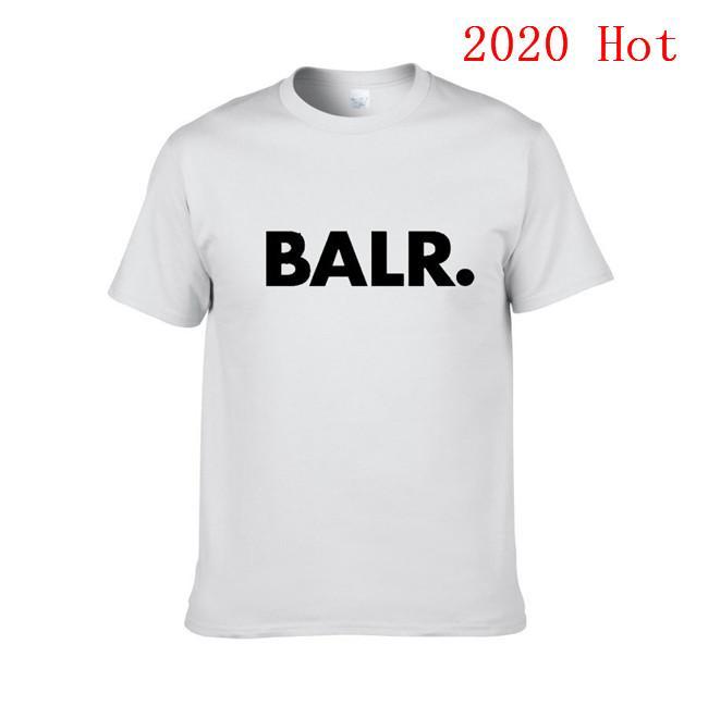 2020 Yeni Balr Tasarımcı T Gömlek Hip Hop Erkek Tasarımcı T Gömlek Moda Marka Womens Kısa Kollu Büyük Beden XS-XXL EL-11