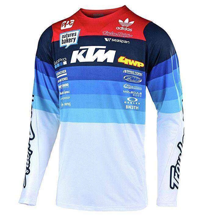KTM انحدار تي شيرت ركوب الدراجة بدلة قصيرة الأكمام الرجال والنساء قميص الصيف على الطرق الوعرة دراجة نارية الملابس