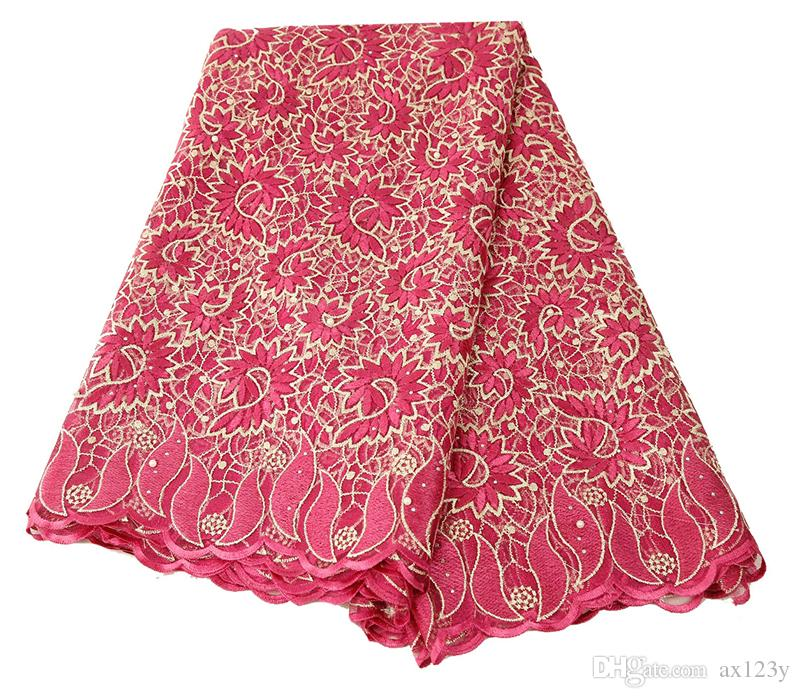 Latest African Cotton Swiss Voile Lace Fabric High Quality Swiss Voile Lace In Switzerland For Wedding Dress BL121