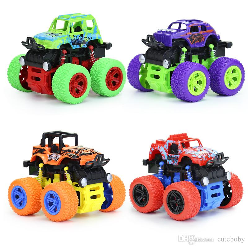 Children's inertia four-wheel drive off-road vehicle shockproof boy simulation toy stunt swing bigfoot car model For Gifts