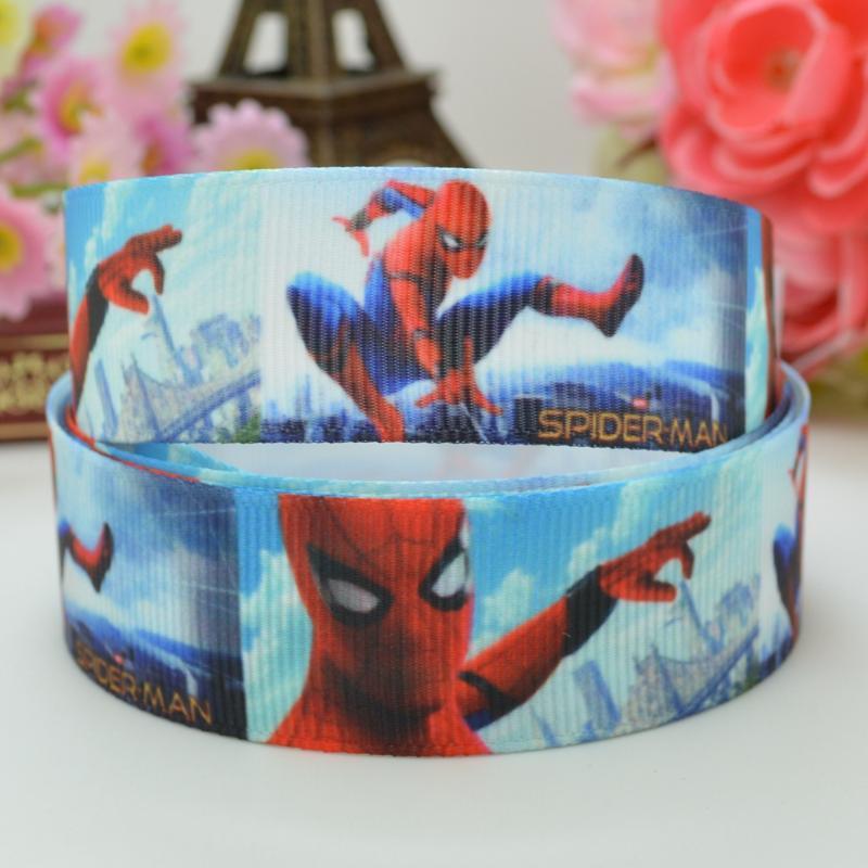 7//8 INCH 22mm GROSGRAIN RIBBON Hair Bow Supplies Wholesale Spiderman