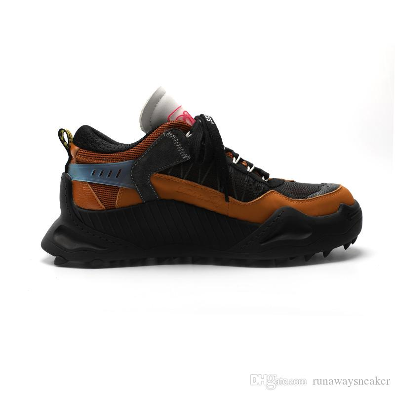 الجملة الرخيصة مصمم أحذية للرجال جلدية حقيقية ODSY-1000 معطلة الرياضة العلامة التجارية المشي حجم أحذية بيضاء حذاء 38-45