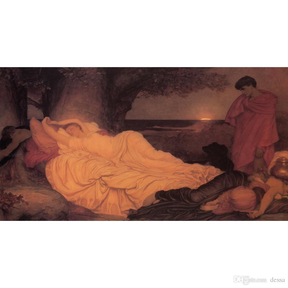 Симон и Ифигения картины маслом на холсте ручная роспись Фредерик Лейтон портрет женщина картина для декора стен