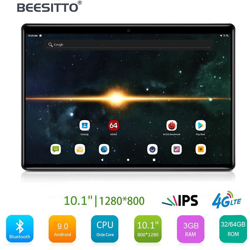 Fast Shipping 5G WiFi Tablet PC 10 inch Octa Core 3GB RAM 64GB ROM 1280x800 HD screen Dual 2.5D Glass 4G LTE Android 9.0 OS Pad