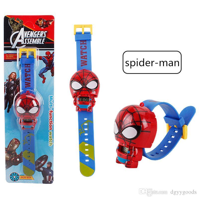 Spider Man Enfants Regardent Batman Kitty électronique Cartoon Montres enfant pour les garçons étudiants fille enfants Wristwatch