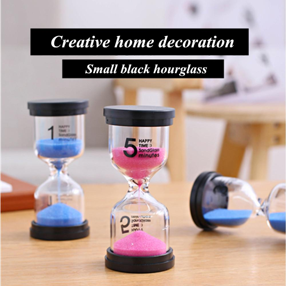 1//3//5 Minute Wooden Sand Hourglass Clock Home Decor Gift Kitchen Creative Children Brush Timer Time Funnel red