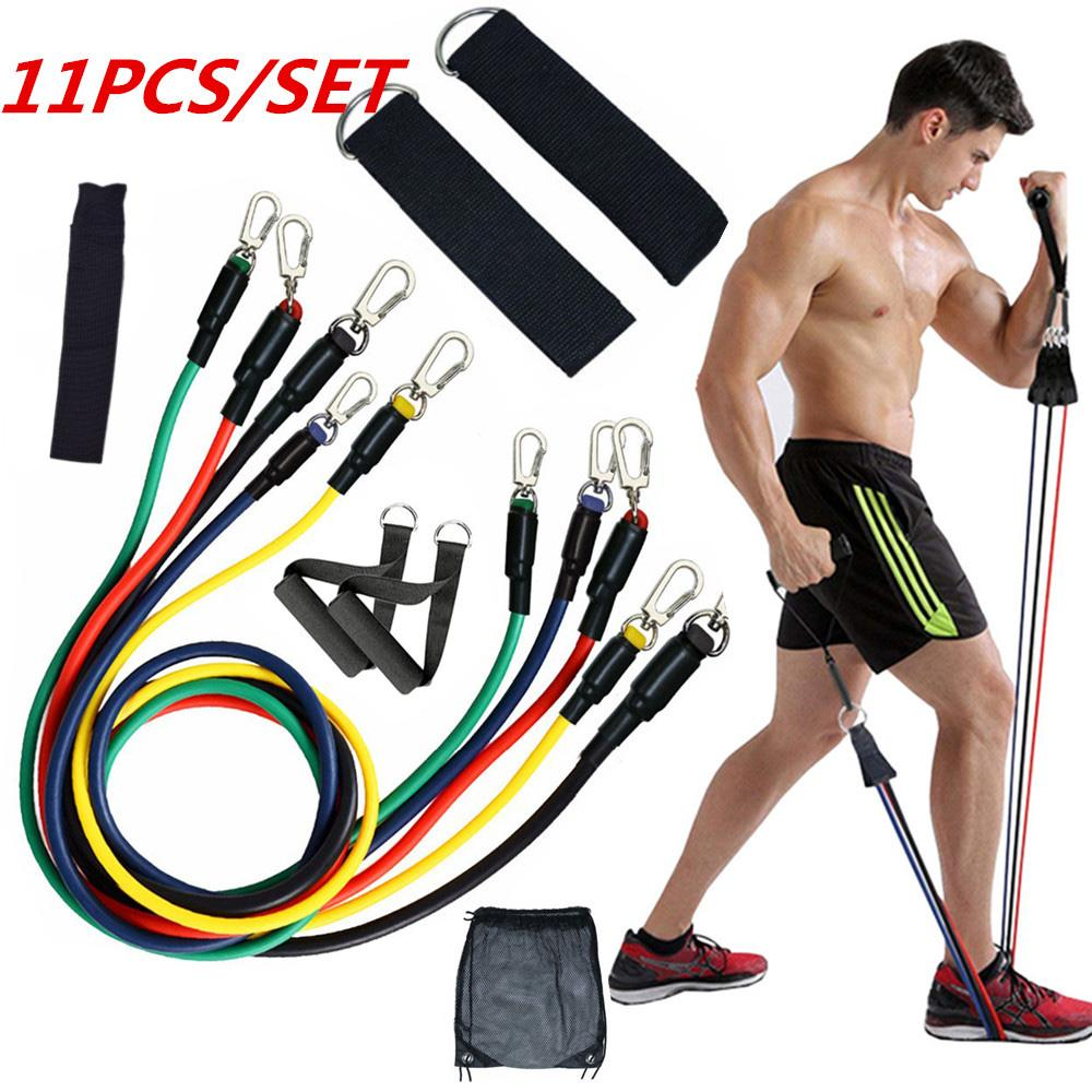 Yoga Resistance Exercise Bands Gym Fitness Equipment Muscle Training Pull Rope