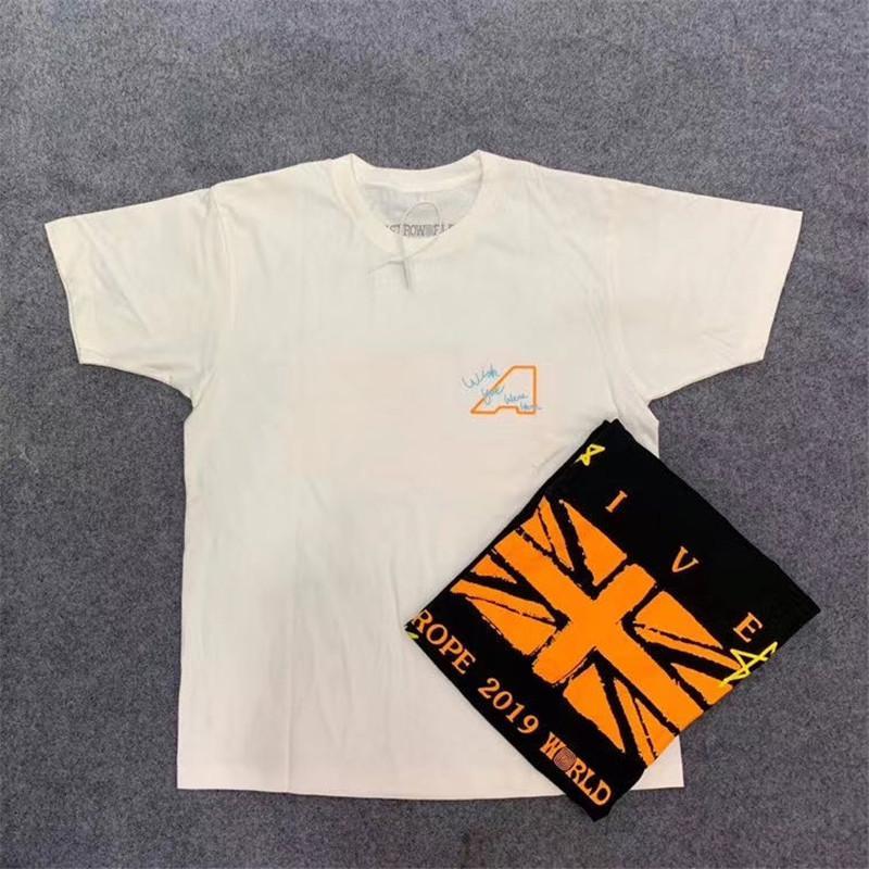 gira TRAVIA SCOT camisa mujeres de los hombres 2020 camisetas superiores Summe superior tee camiseta t vivo camisa Negro camiseta blanca