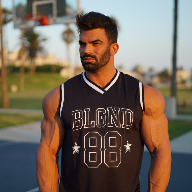 Summer 2019 Men Bodybuilding Tank top Number Print Gyms Fitness Vest Summer Cool Breathable Sleeveless vests CrossfitsWorkout Clothing