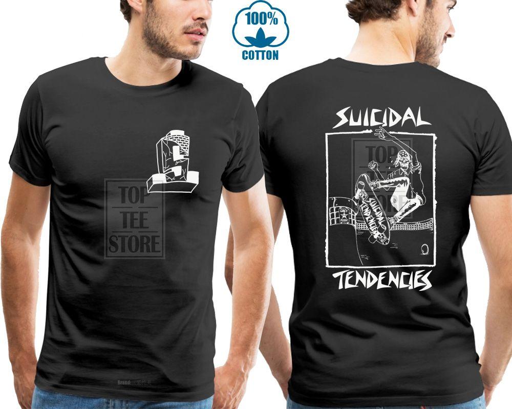 Neue Suicidal Tendencies Skateboard Punk Schwarzes Hemd (Sml 2xl) Badhabitmerch Bequemes T-Shirt Lässiger Kurzarmdruck