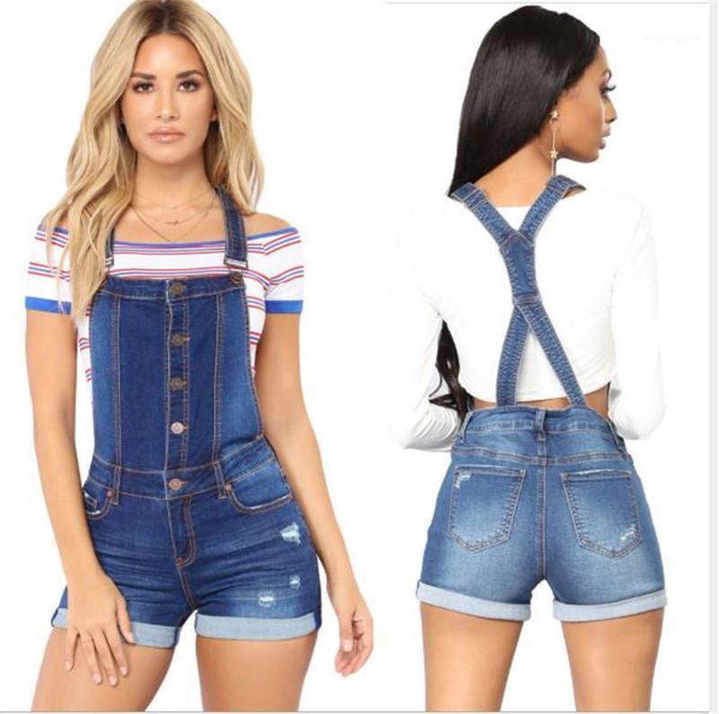 مباراة الصيف للمرأة مصمم ملابس هول الشريط توالت المرأة الصيف السراويل سليم جينز مغسول كلاسيك الأزرق جميع