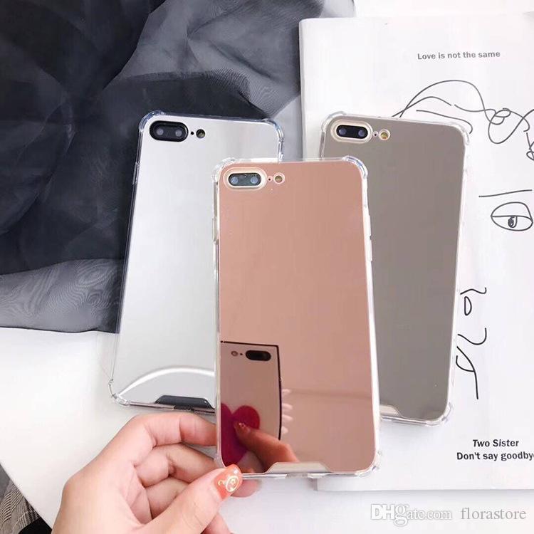 Electroplate Espelho PC Phone Capas Eletroplastia Chrome Ultrathin Shell Drop Drop Diferencial para iPhone XR X Max 12 Pro Samsung