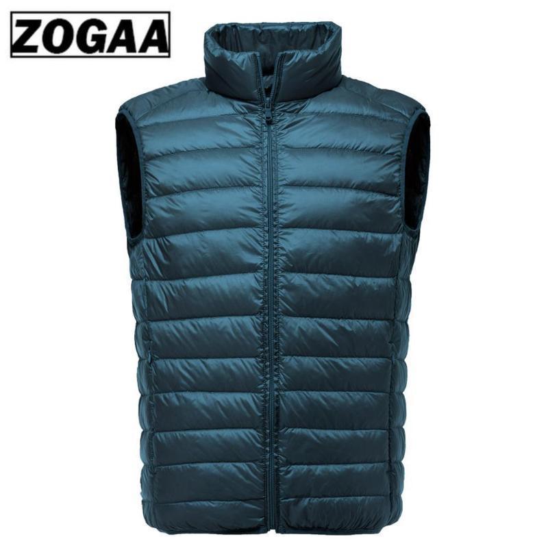 2020 새로운 남성 민소매 재킷 양복 조끼를 따뜻하게 방풍 다운 조끼 남성 슬림 조끼 남성 의류 오리 겨울 초경량 화이트