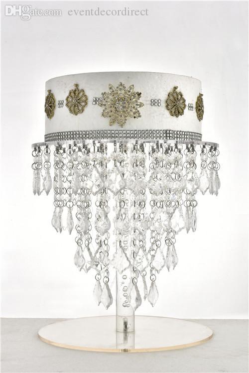 Araña de cristal acrílico soporte de la torta de la magdalena soporte de mesa de boda Centros de mesa Decoración