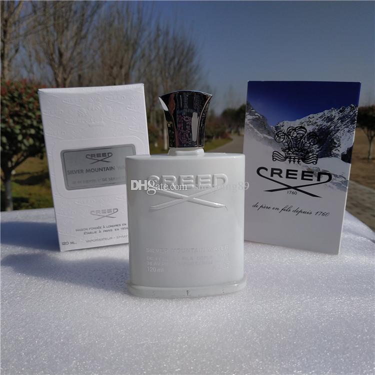 أعلى جودة العقيدة الفضة الجبل المياه رجل العطور العطور عطر دائم الصحة رائحة مزيل العرق رذاذ البخور 120 ملليلتر صناديق جديدة
