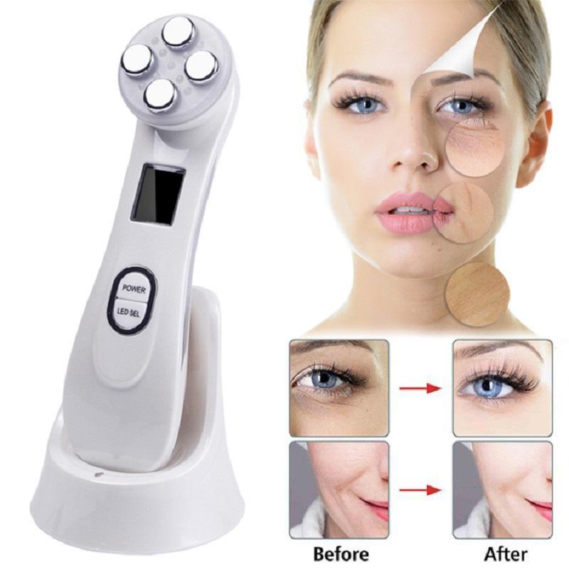 5 في 1 الجلد تشديد LED EMS RF شد الوجه الوجه جهاز تزيين وتجميل لإزالة التجاعيد حب الشباب صبغات