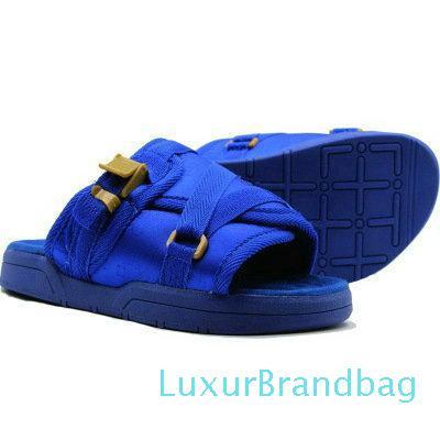 scarpe vendita calda-ge Gli uomini le donne della tela Pantofole estate maschio di diapositive antiscivolo ciabatte da spiaggia Infradito Sandali