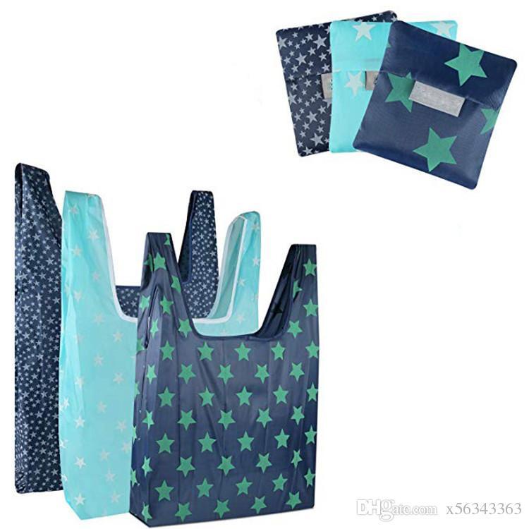 المحمولة طوي التسوق حمل أكياس قابلة لإعادة الاستخدام حقيبة تخزين البقالة صديقة للبيئة سلة أكسفورد القماش للماء حقيبة السفر الشاطئ الحقيبة