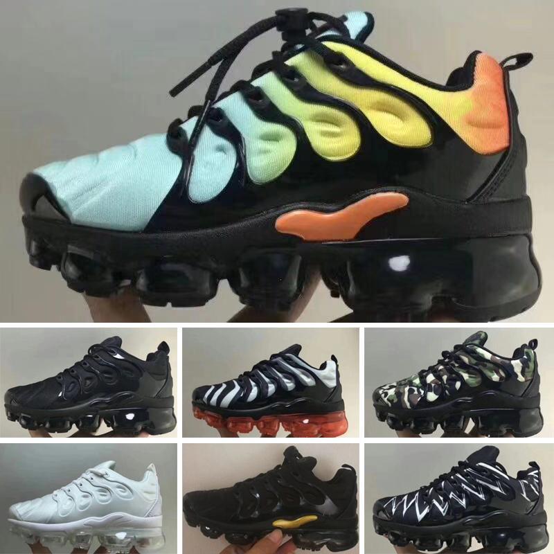 Nike air Vapormax TN 2020 وصول جديد سلسلة من ردود الفعل احذية عادية للأطفال أسود أبيض الوردي موضة المدربين الرياضة مصمم اطفال احذية عادية
