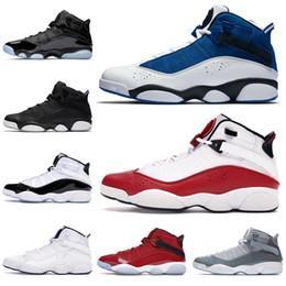 Air Jordan 6 Rings Venta anillos de los zapatos de baloncesto de los hombres de seis Taxi Bred fresco de Hielo Negro gris para hombre Concord formadores zapatillas  7-13