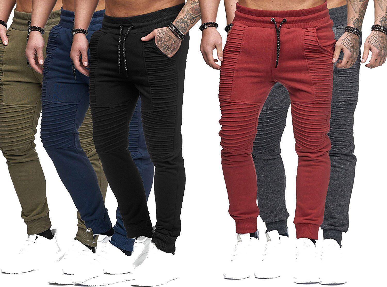 Mens pantaloni della matita di tasca di modo a righe con coulisse Pantaloni Fitness Mens regolari Lunghezza vestiti di sport Pantaloni maschio completi