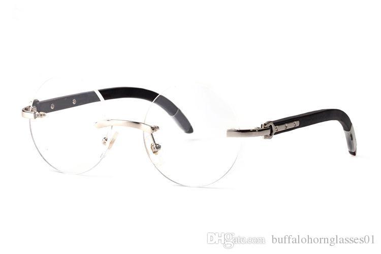 2020 moda uomo bufalo ovale occhiali da sole montature in metallo reali occhiali sportivi di legno per gli uomini Occhiali in legno d'epoca con Red Box lunette