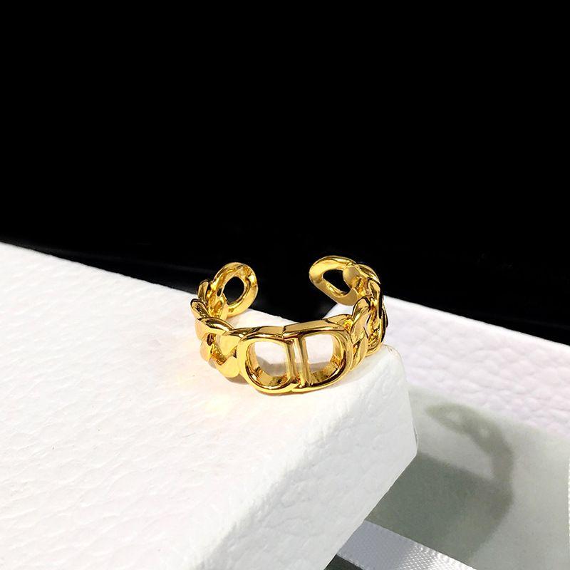 Marken-Designs Ringe Edelstahl C Brief Luxus 18K Gold überziehen Liebhaber Ringe Frauen-Ring-Gold überzogene Schmucksachen