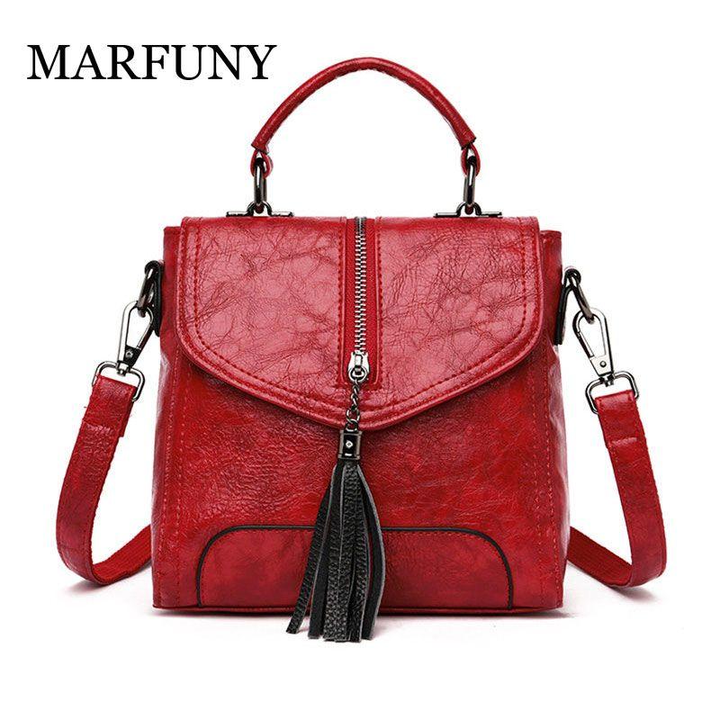 Women Backpack High Quality Leather Travel Bag Tassel Backpacks School Bags for Teenagers Girls Female Zipper Shoulder Bag