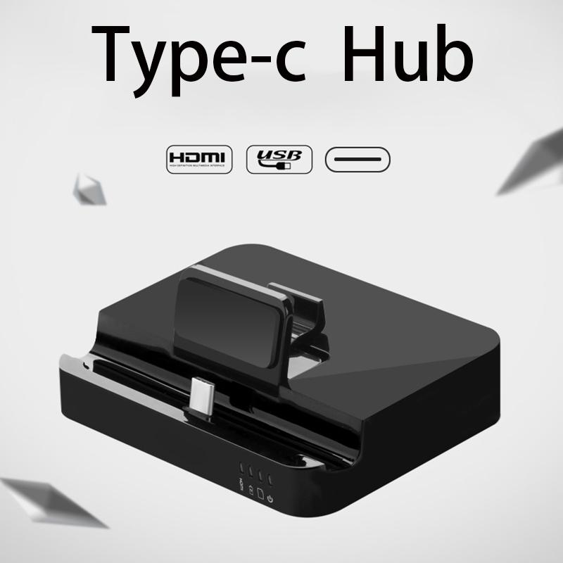 6-IN-1 USB C Adapter Type C Multiport Adapter HDMI Output SD+Micro SD Card Ports USB3.0 Ports for Huawei Sansung type-c phone new
