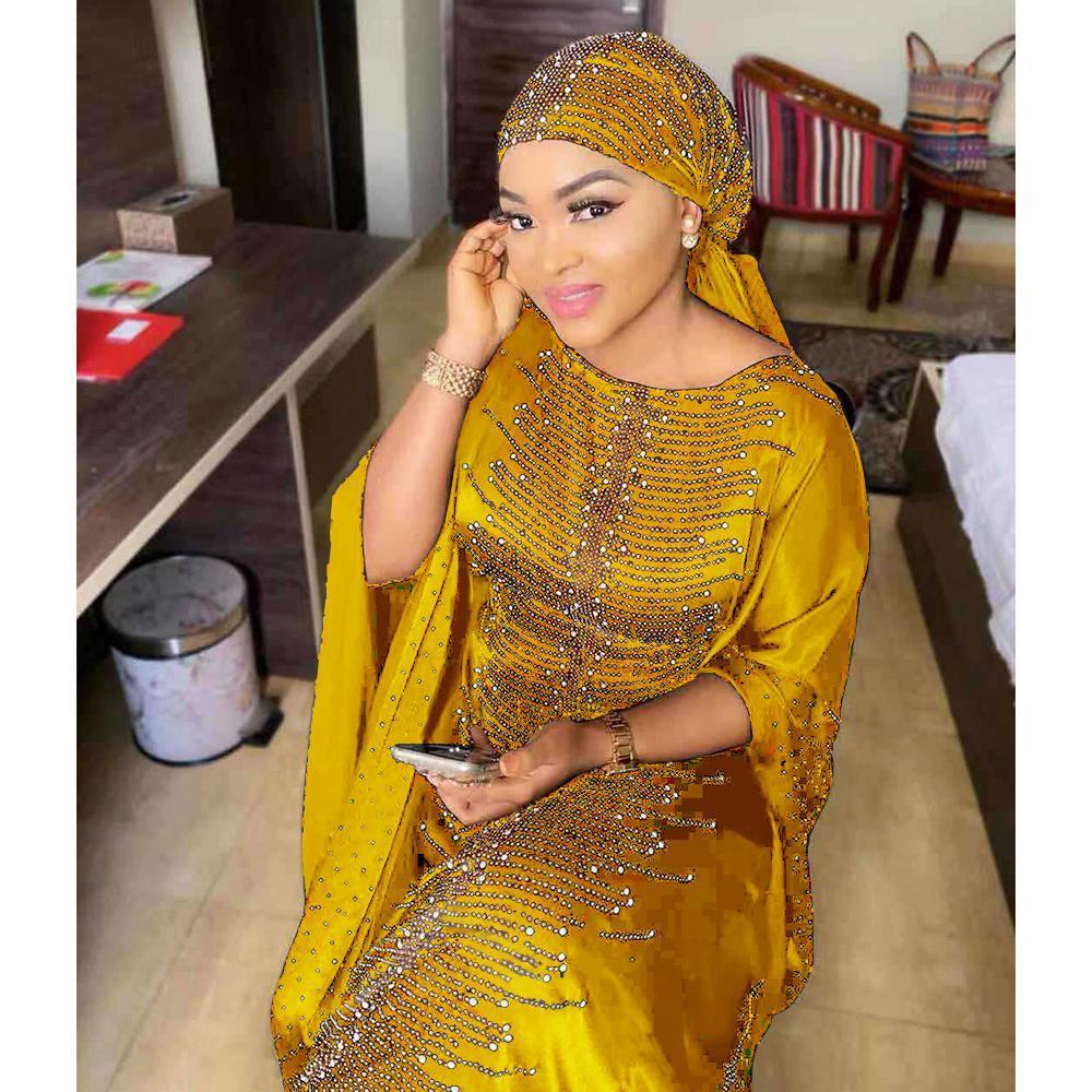 فساتين الأفريقية للنساء 2019 فستان طويل أفريقيا الملابس مسلم عالية الجودة طول موضة اللباس الأفريقي لسيدة