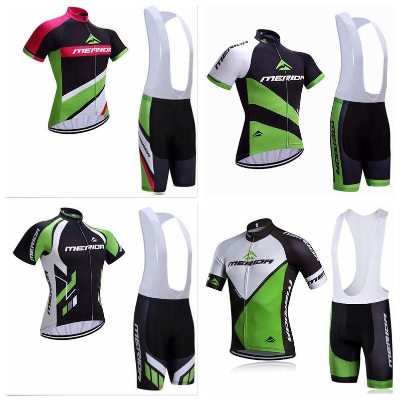 MERIDA équipe sur mesure cyclisme manches courtes en jersey cuissard ensembles été hommes meilleure qualité confort manches courtes cuissard à bretelles ensemble S7329