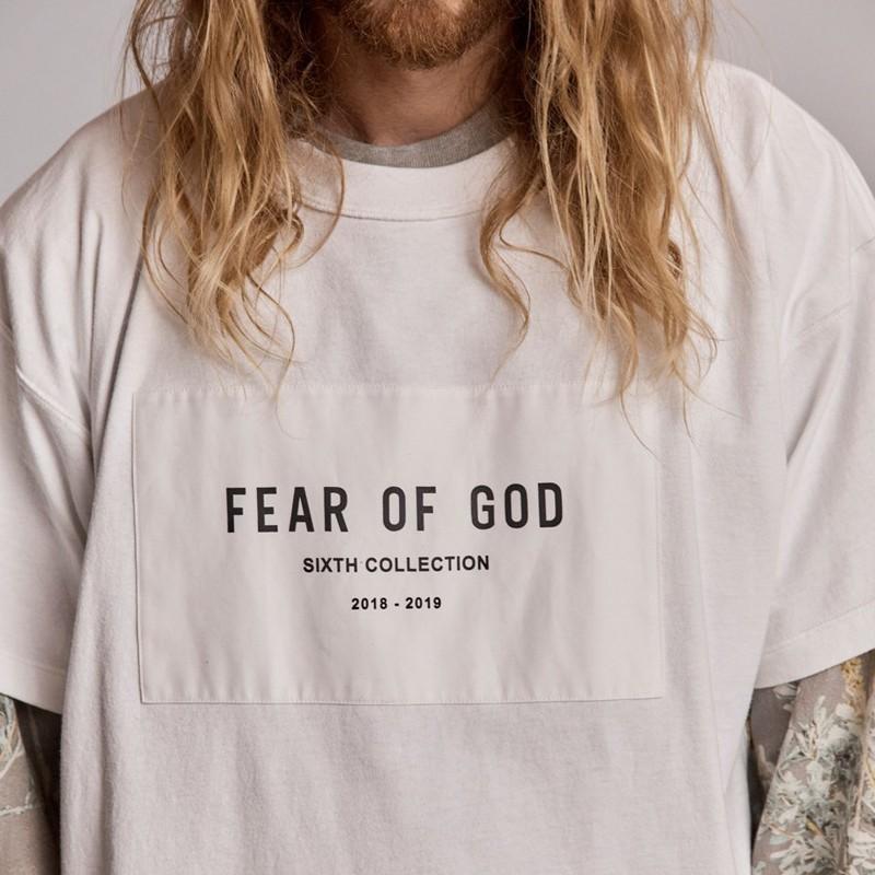Nebbia paura di Dio 6th Collection Tee Hip Hop semplice strada di Skateboard T-shirt Estate Uomo Donna Casual Moda Maniche Corte Tee HFYMTX506