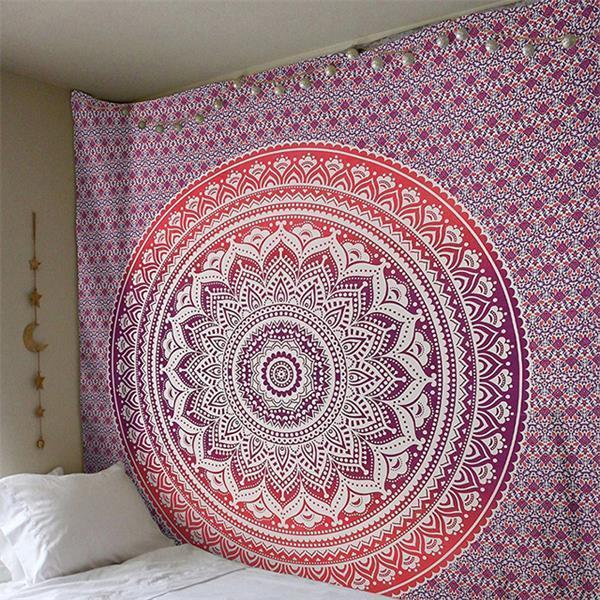 Gran colgante Mandala india tapicería de la pared de Bohemia Esterilla para la playa delgada de poliéster Manta Yoga Mat Manta Mantón 200x150cm