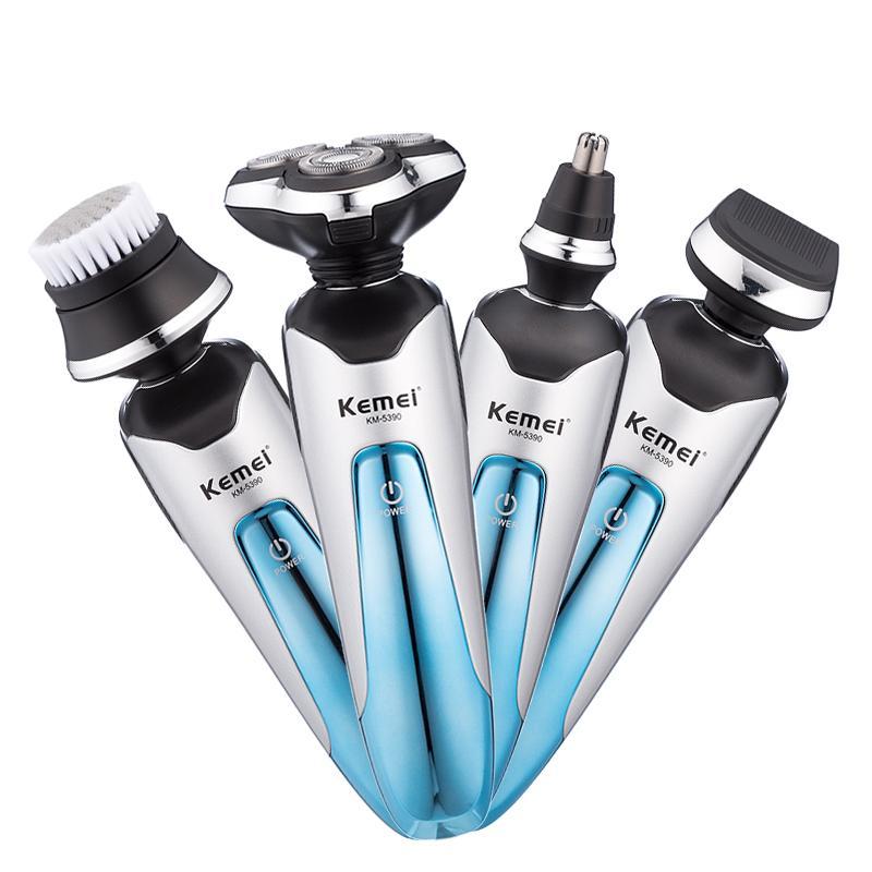Kemei 3D аккумуляторная электрическая бритва электрическая бритва с плавающей бороды мужчин бритва для бритья машина нос триммер холить комплект