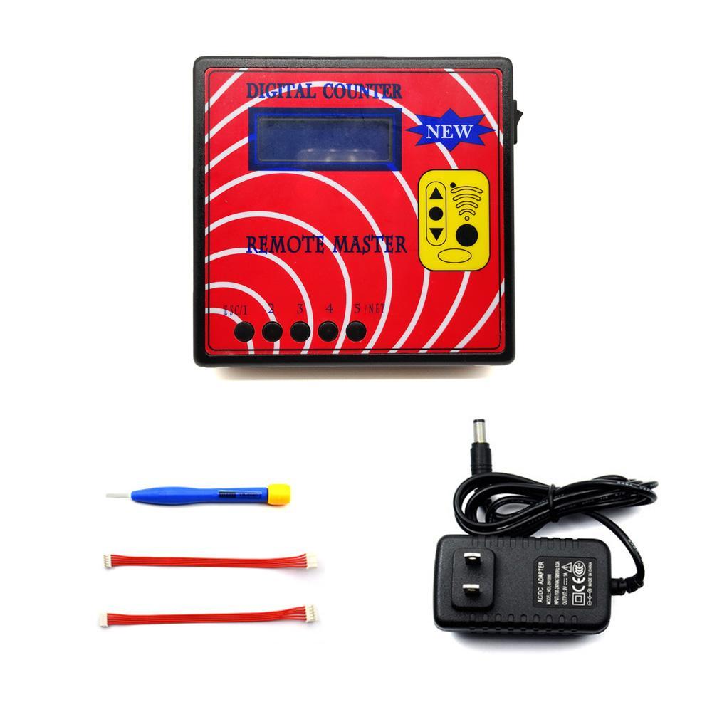 New Contador Digital Remoto Master Key Programador Frequency Tester, fixo / rolamento Copier Regenerar RF Controle Remoto