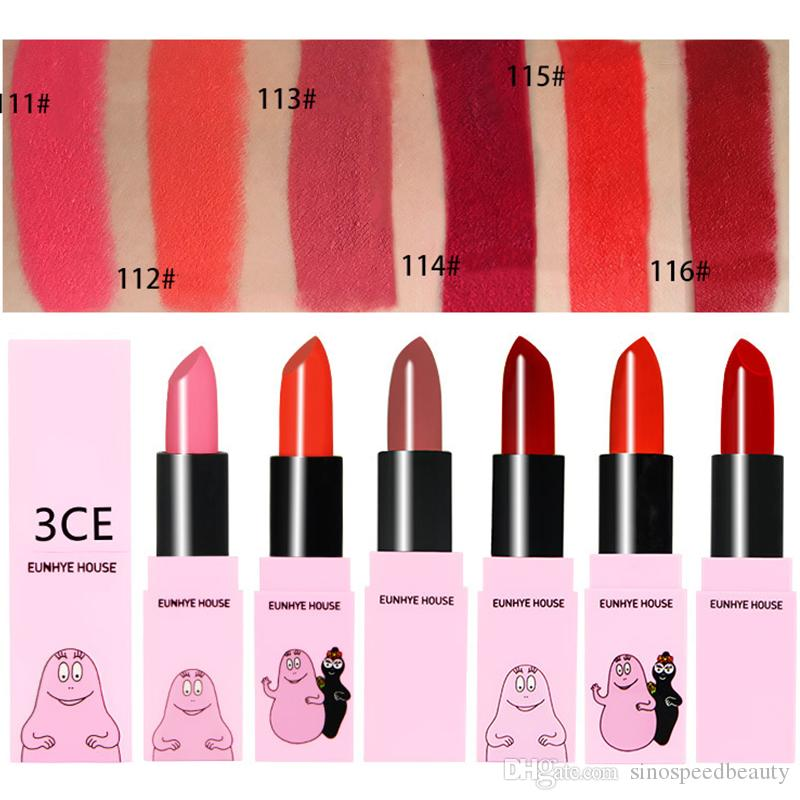 3CE Eunhye House Lipstick Long Lasting Moisturizing Matte Lipstick Cosmetics Rose Bean Paste Vintage Chili Red Free Shipping L4003