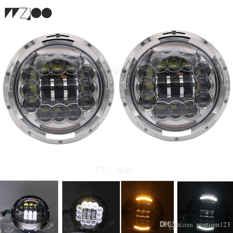 4/'/' Fog Light  for Jeep Wrangler JK TJ 2PCS 7 inch H4 H13 Round LED Headlight