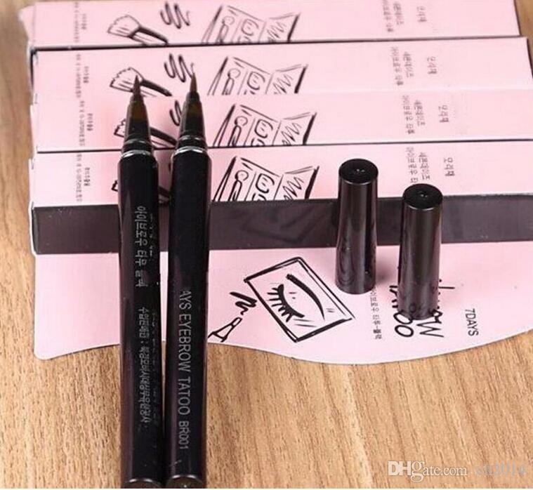 Водонепроницаемый Коричневый 7 Дней Бровей Бровей Татуировки Pen Liner Длительный Макияж Женщины Подарки Высокого Качества Бровей Лайнер