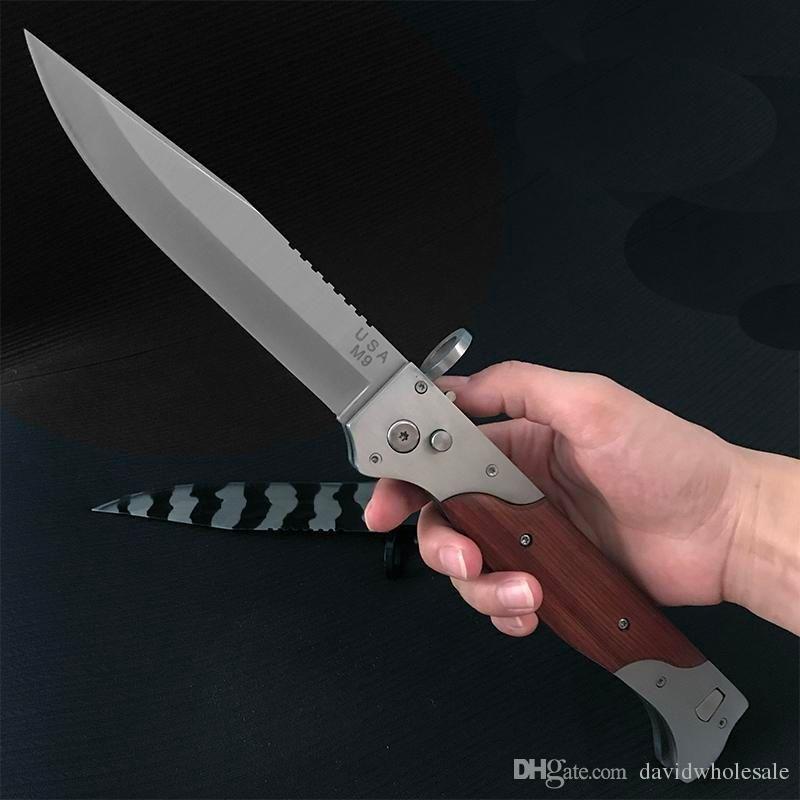 Grande M9 A07 faca automática E07 162 faca de bolso faca de acampamento ferramenta de sobrevivência facas táticas ao ar livre livre de frete.