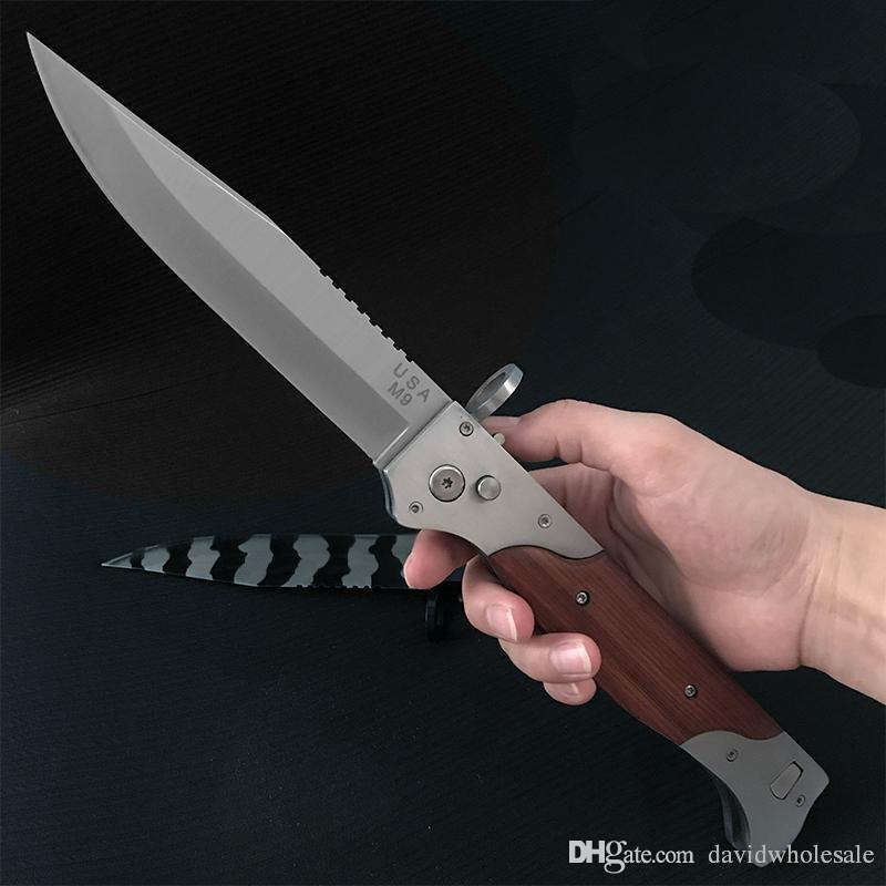 Coltello grande M9 A07 automatico E07 162 coltello tascabile da campeggio attrezzo da sopravvivenza coltelli tattici esterni senza carico.